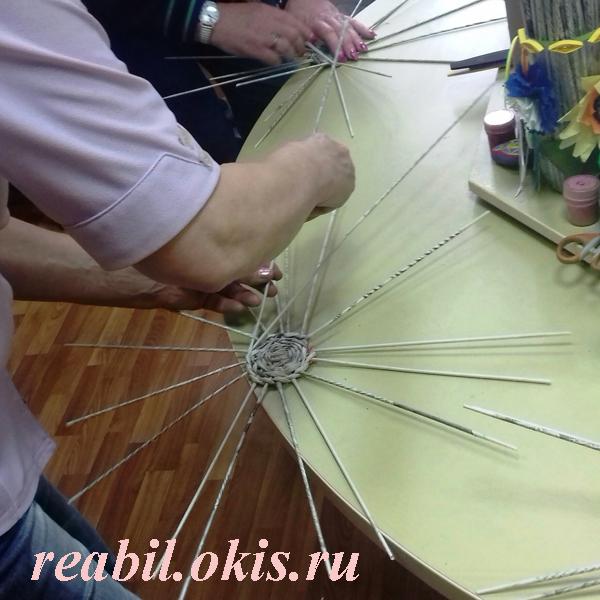 мастер-класс по плетению изделий из бумажной лозы