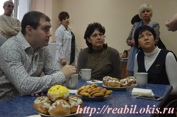 чаепитие в Луганском Центре реабилитации
