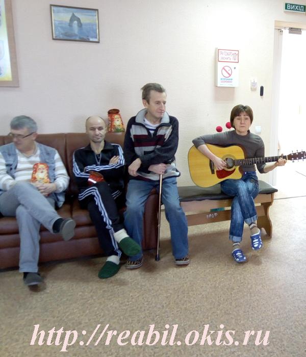 студенты Центра реабилитации в Луганске