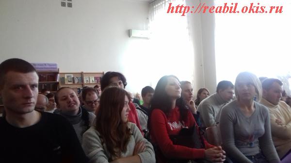 в библиотеке Горького
